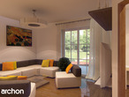projekt Dom w rododendronach 6 (G2P) Strefa dzienna (wizualizacja 2 widok 1)