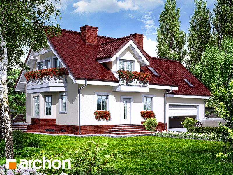 projekt Dom w rododendronach 6 (G2P) widok 1