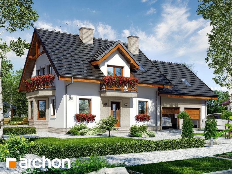 gotowy projekt Dom w rododendronach 18 (G2T) widok 1