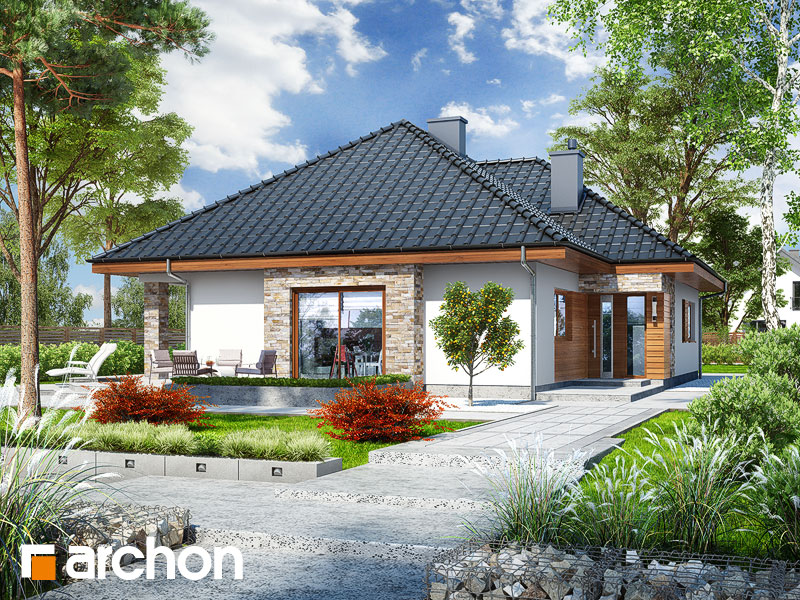 gotowy projekt Dom w lambertach widok 1
