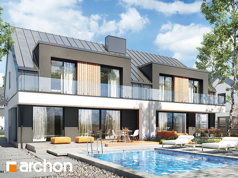 gotowy projekt Dom w klematisach 29 (R2) widok 1