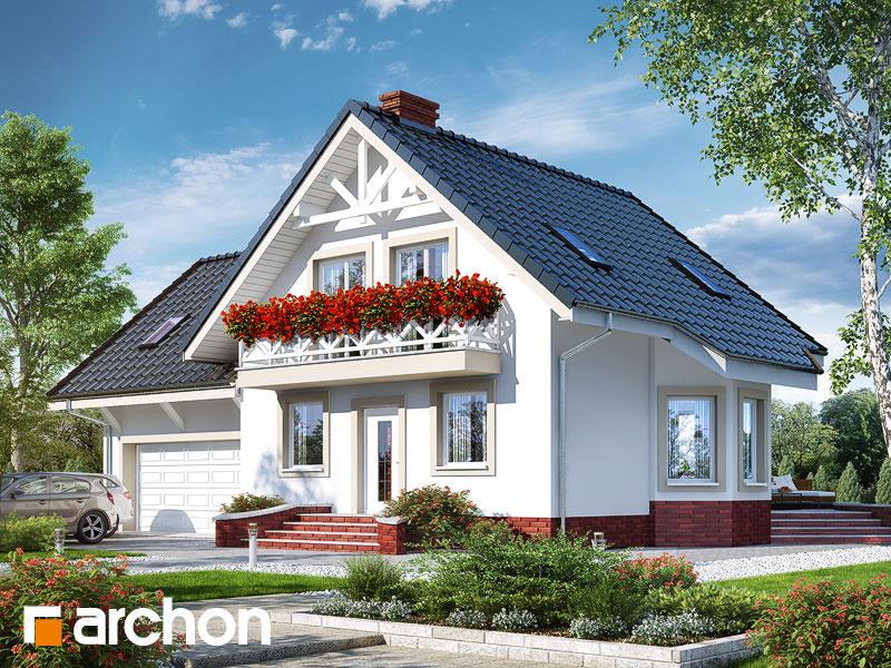 gotowy projekt Dom w perłówce 2 (G2) widok 1
