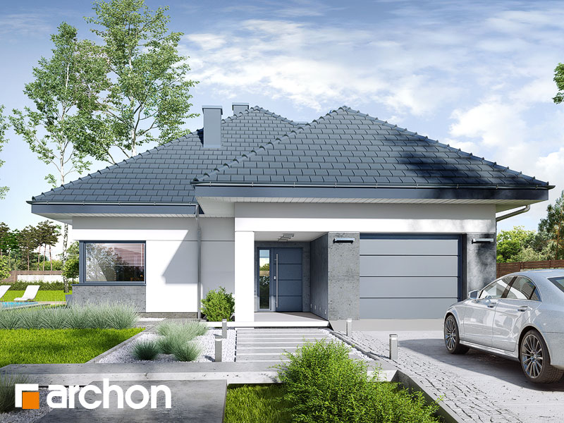 gotowy projekt Dom w renklodach 5 widok 1
