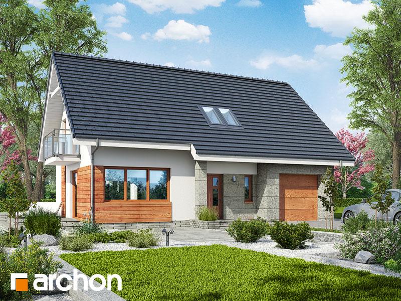 gotowy projekt Dom w poziomkach 5 (GN) widok 1