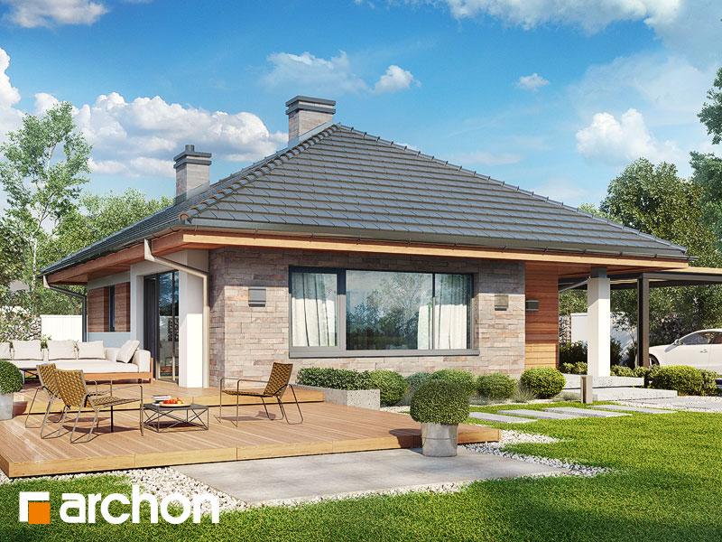 gotowy projekt Dom w lilakach (M) widok 1