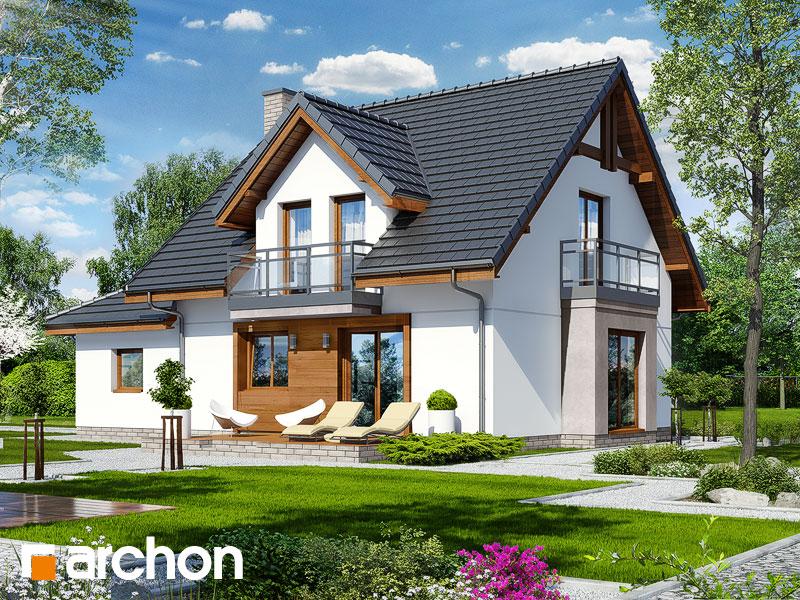 gotowy projekt Dom w rododendronach 22 widok 1