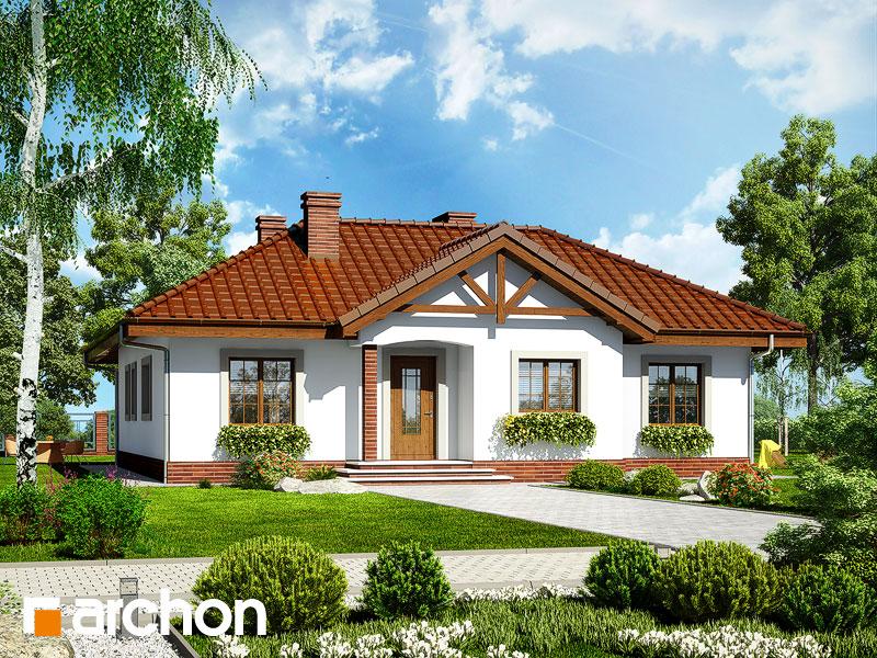 projekt Dom w miłkach widok 1