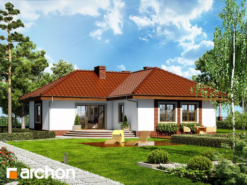 gotowy projekt Dom w miłkach widok 2