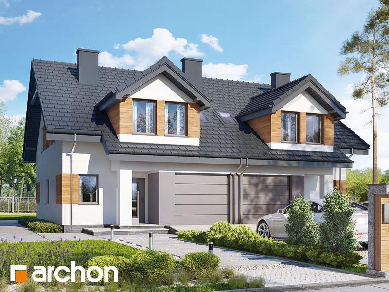 gotowy projekt Dom w klematisach 12 widok 1