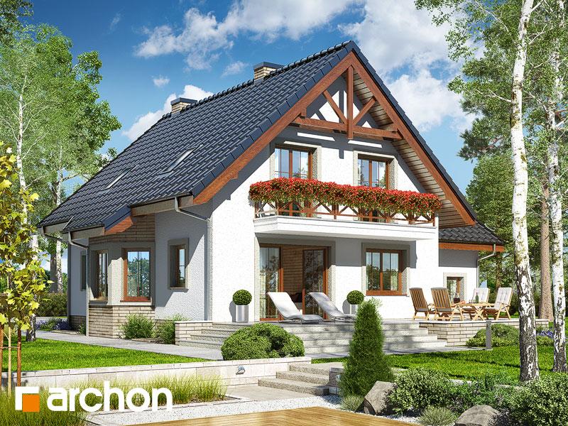 gotowy projekt Dom w tamaryszkach 8 (P) widok 1