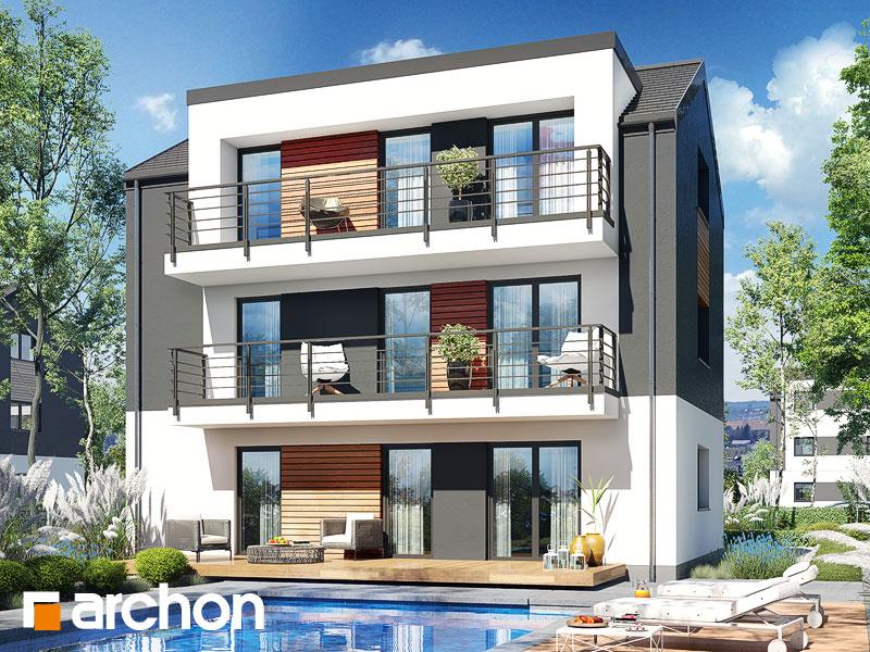 gotowy projekt Dom w halezjach 5 (R2) widok 2