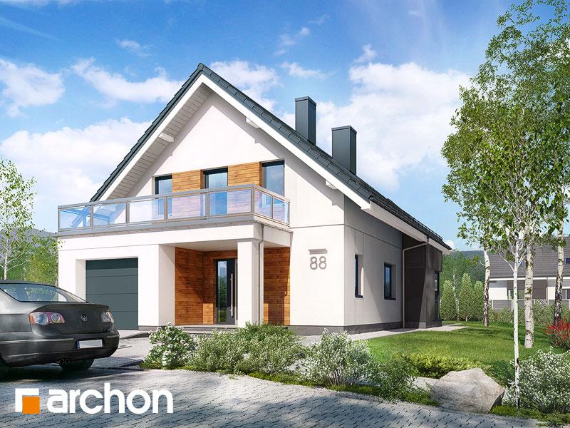 gotowy projekt Dom we floksach 2 (T) widok 1