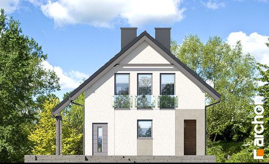 Elewacja boczna projekt dom w cytryncach w  266