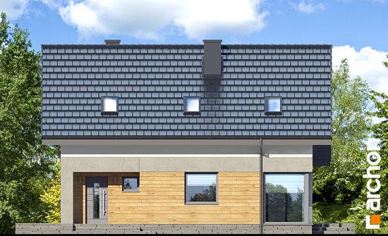 Elewacja frontowa projekt dom w cytryncach w  264