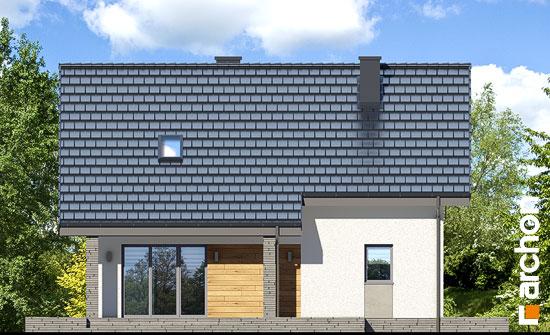 Elewacja ogrodowa projekt dom w cytryncach w  267