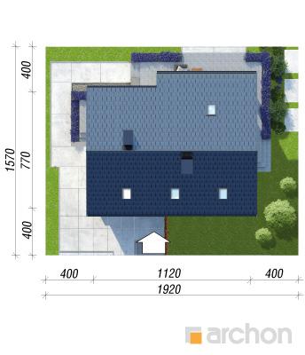projekt Dom w cytryńcach (W) sytuacja