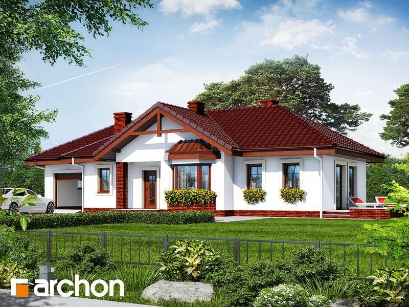 gotowy projekt Dom w storczykach widok 1