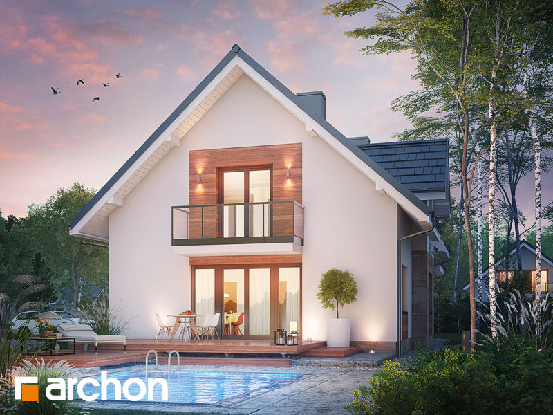 gotowy projekt Dom w lobeliach 5 widok 2