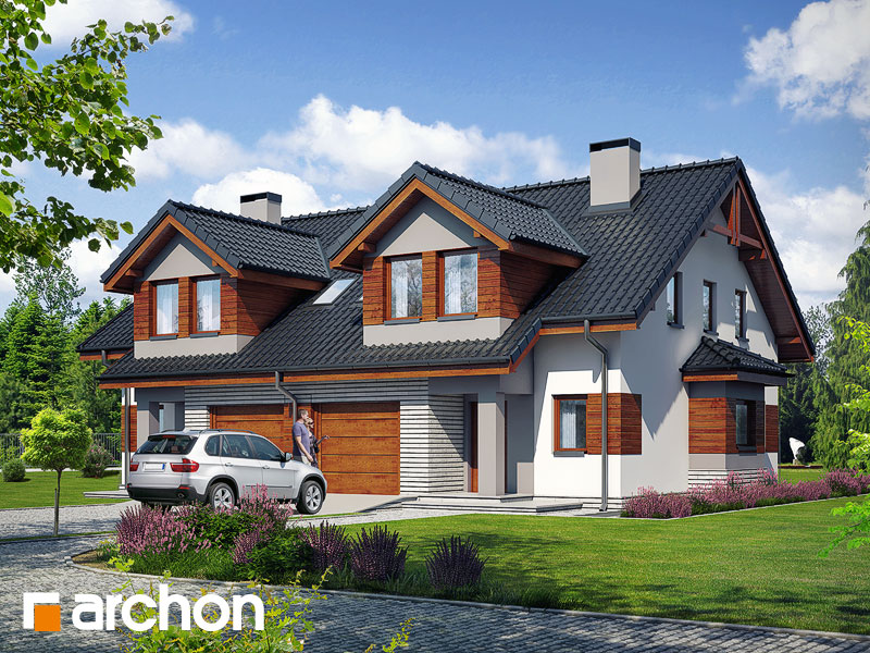 gotowy projekt Dom w klematisach 9 widok 1