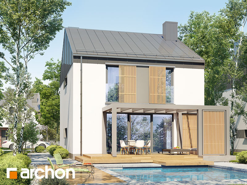 gotowy projekt Dom w narcyzach (A) widok 2