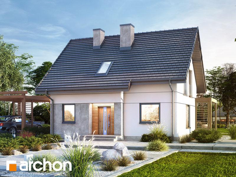 gotowy projekt Dom w zielistkach 8 widok 1
