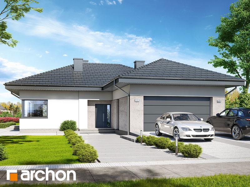 gotowy projekt Dom w przebiśniegach 6 (G2) widok 1