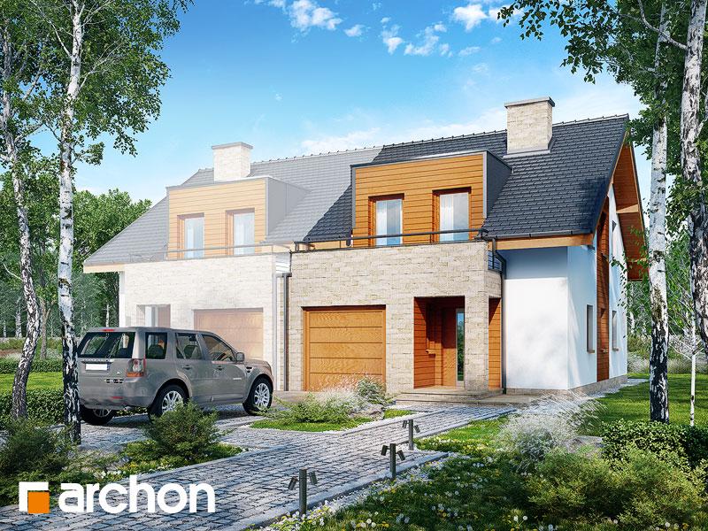 gotowy projekt Dom w klematisach 18 (B) widok 1