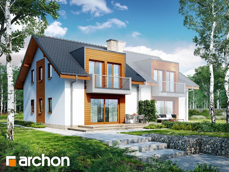 gotowy projekt Dom w klematisach 18 (B) widok 2
