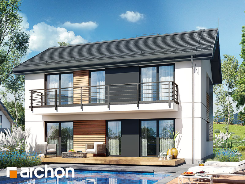 gotowy projekt Dom w halezjach (R2A) widok 2
