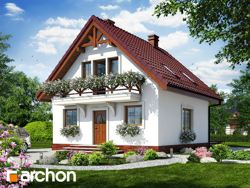 gotowy projekt Dom w rododendronach 11 (T) widok 1