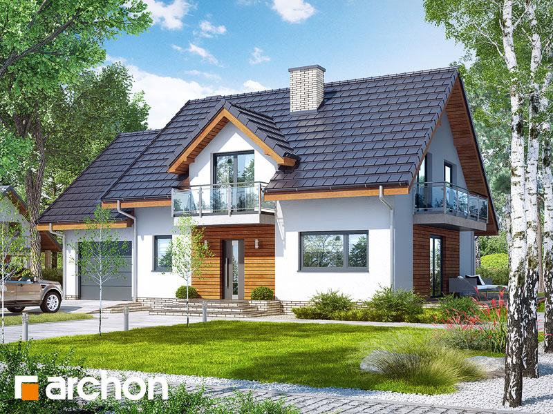 gotowy projekt Dom w czerwonokrzewach (T) widok 1
