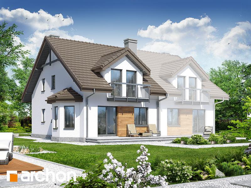 gotowy projekt Dom w ostróżkach 2 widok 1