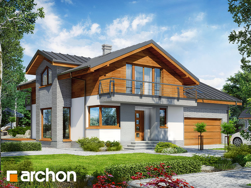 gotowy projekt Dom w budlejach 4 (G2) widok 1