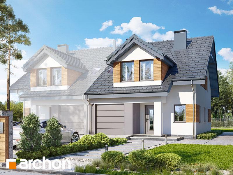 projekt Dom w klematisach 12 (B) widok 1