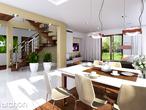 projekt Dom w bergamotkach (G2N) Strefa dzienna (wizualizacja 1 widok 1)