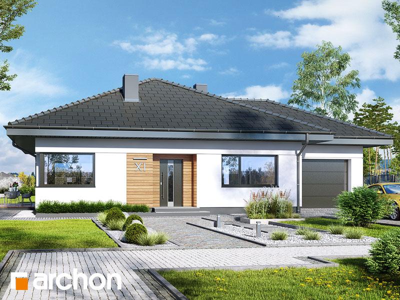 gotowy projekt Dom w cieszyniankach 5 (G) widok 1