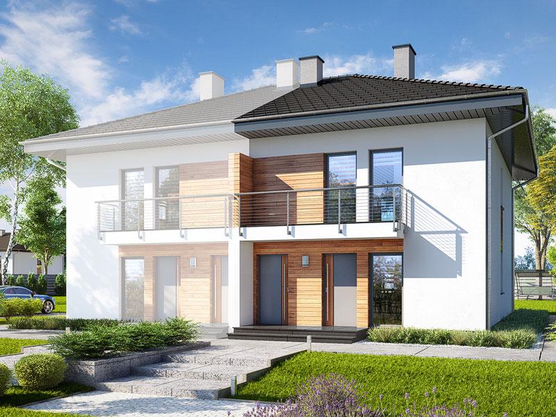 gotowy projekt Dom w bratkach 3 (R2B) widok 1