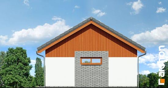Elewacja boczna projekt garaz 2 stanowiskowy g22  265