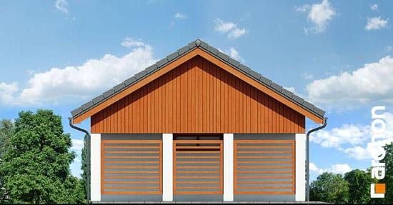 Elewacja boczna projekt garaz 2 stanowiskowy g22  266