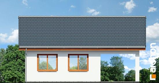 Elewacja ogrodowa projekt garaz 2 stanowiskowy g22  267