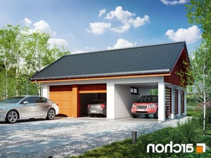 projekt Garaż 2-stanowiskowy G22 lustrzane odbicie 1