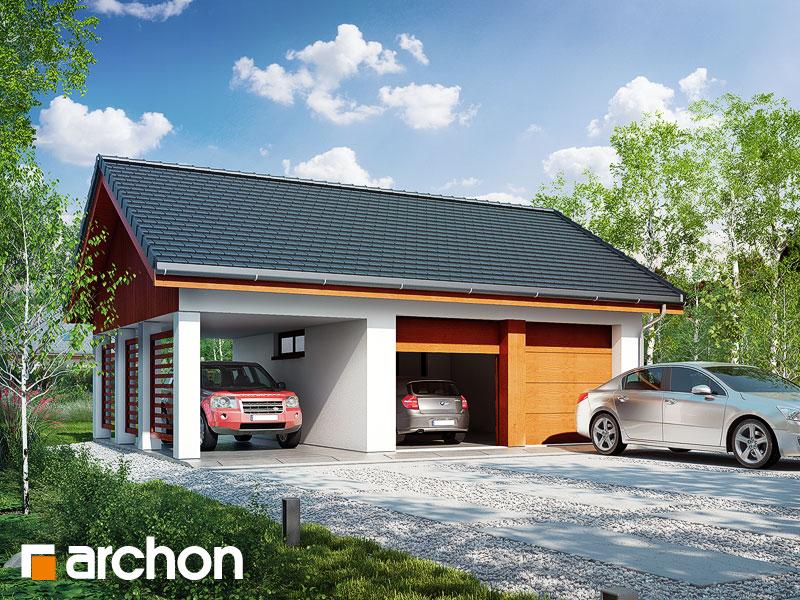 gotowy projekt Garaż 2-stanowiskowy G22 widok 1