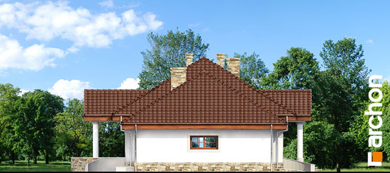 Elewacja boczna projekt dom w gaurach ver 2  265