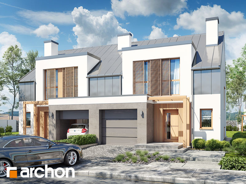 projekt Dom w klematisach 20 (R2N) widok 1