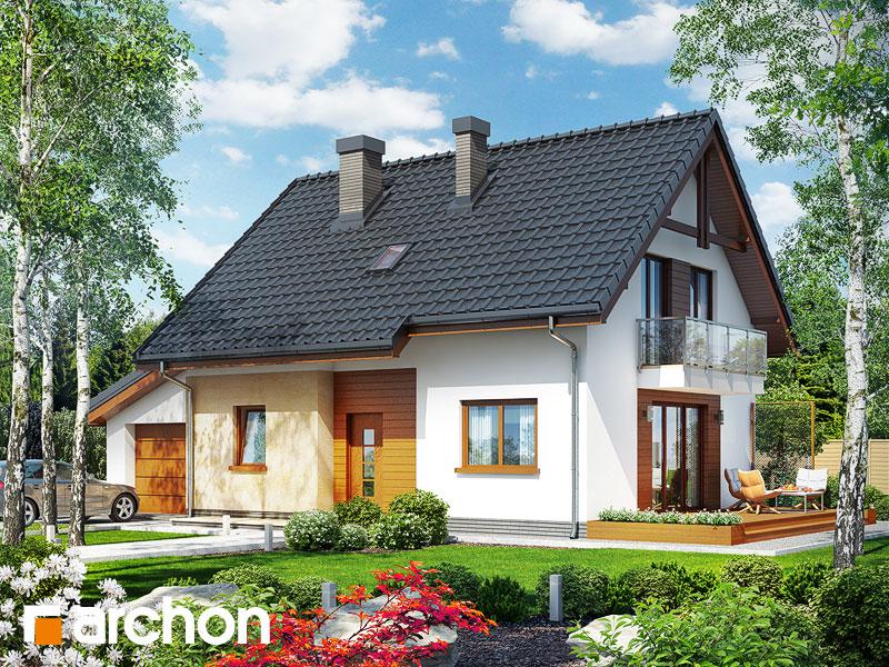 gotowy projekt Dom w zielistkach (GT) widok 1