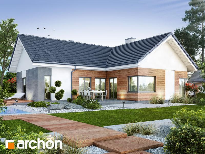 projekt domu dom w galach g archon. Black Bedroom Furniture Sets. Home Design Ideas