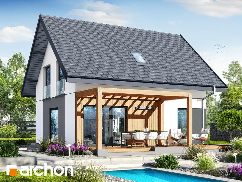 gotowy projekt Dom w zielistkach 20 widok 2