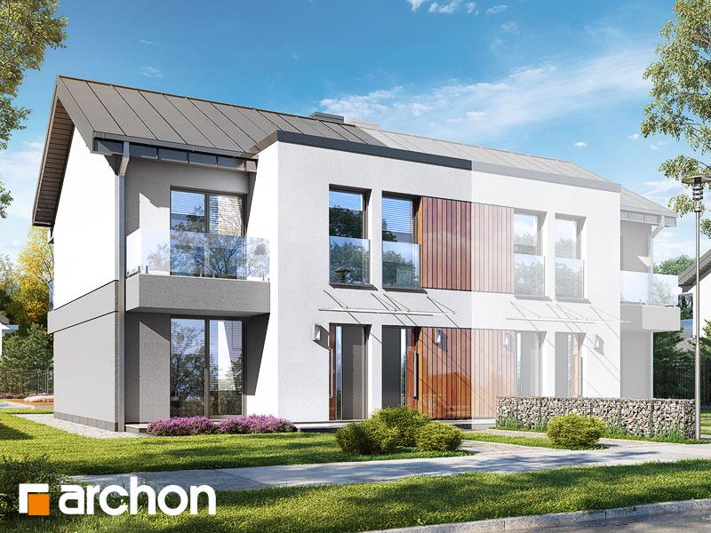 gotowy projekt Dom przy skwerze 3 (R2B) widok 1