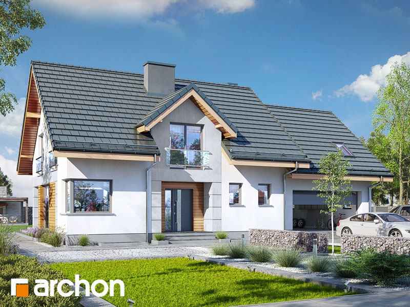 gotowy projekt Dom w srebrzykach 2 (G2P) widok 1