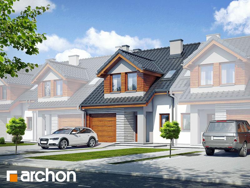 gotowy projekt Dom w klematisach 12 (S) widok 1